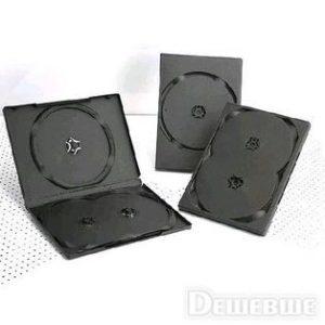 DVD box/3 black 14mm глянцевий