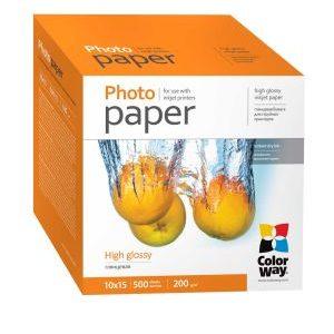 ColorWay 10х15 (500л) 200г/м2 глянцева фотобумага